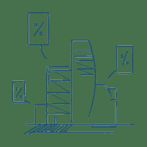 Grafik Immobilienfinanzierungsangebote